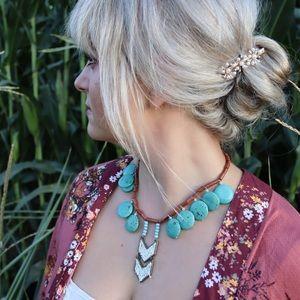 Boho and southwest inspired statement necklace